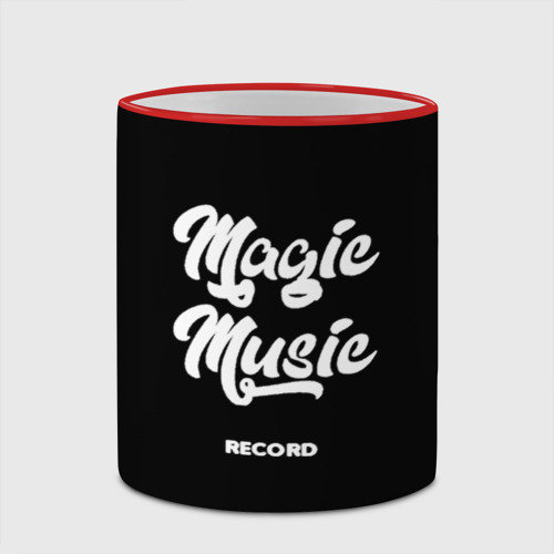 Кружка с полной запечаткой Magic Music Record | White on Black Фото 01