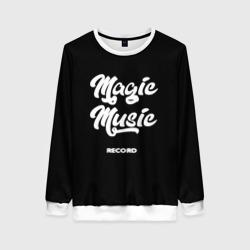 Magic Music Record   White on Black