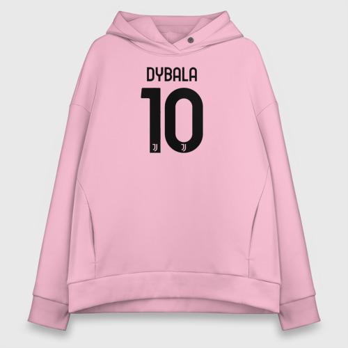 Женское худи Oversize хлопок Dybala 10 номер Ювентус Фото 01