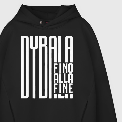 Мужское худи Oversize хлопок Dybala fino alla fine  Фото 01