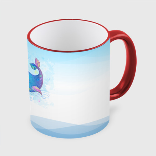 Кружка с полной запечаткой Дельфин единорог Фото 01