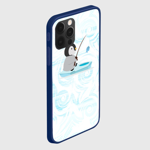 Чехол для iPhone 12 Pro Пингвин рыбачит Фото 01