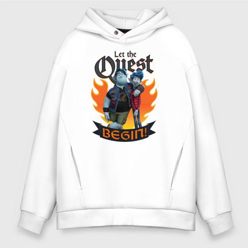 Мужское худи Oversize хлопок Let The Quest Begin Фото 01