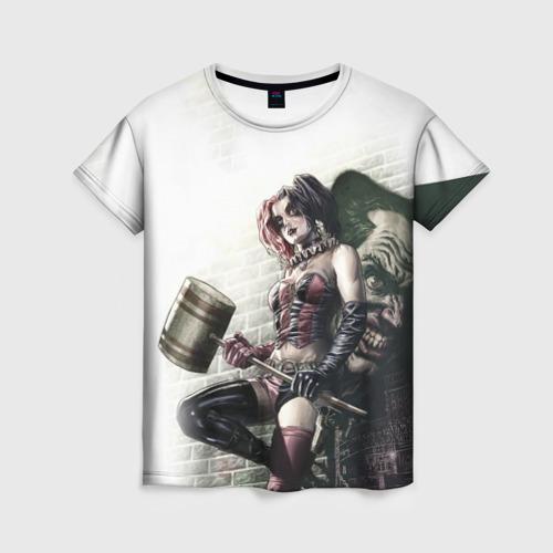 Женская футболка 3D Опасная Харли Квинн с молотом Фото 01