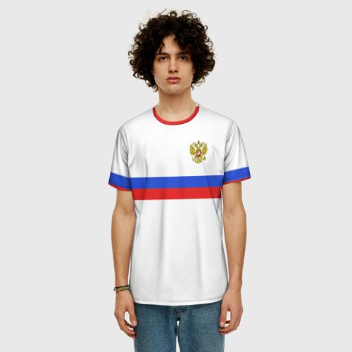 Мужская футболка 3D+ сборная России гостевая форма Фото 01