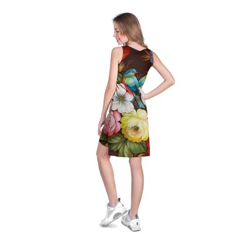 Платье-майка 3D Две птички и цветы Фото 01