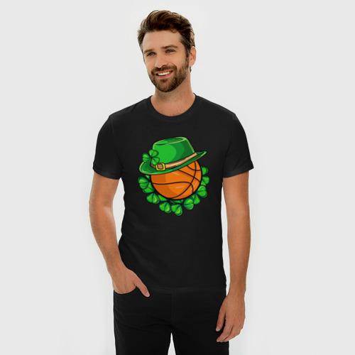 Мужская футболка хлопок Slim Boston Celtics Фото 01
