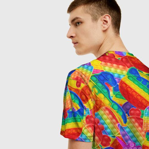 Мужская футболка 3D Разные Pop It масляная краска Фото 01