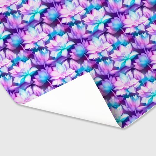 Бумага для упаковки 3D Лотос (Lotus) Фото 01
