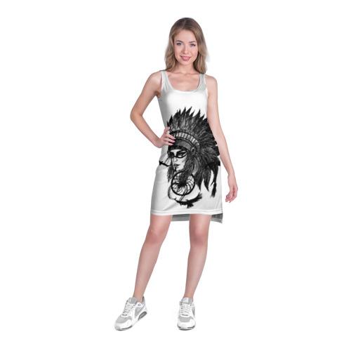 Платье-майка 3D Вождь индейцев Фото 01