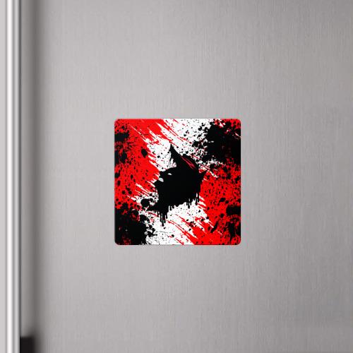 Магнит виниловый Квадрат БЕРСЕРК краска брызги Фото 01