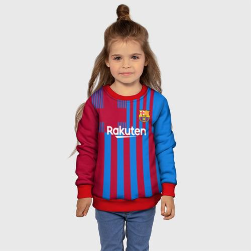 Детский свитшот 3D Дембеле Барселона 21/22 форма Фото 01
