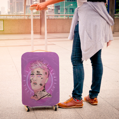 Чехол для чемодана 3D Purpule Peep Фото 01