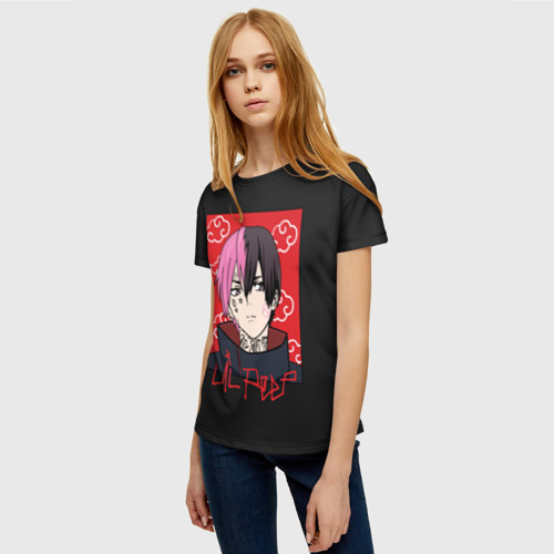 Женская футболка 3D Lil Peep x Naruto Фото 01