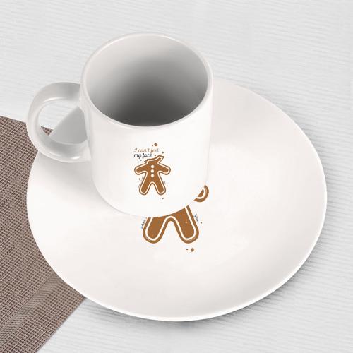 Набор: тарелка + кружка Печенька Фото 01