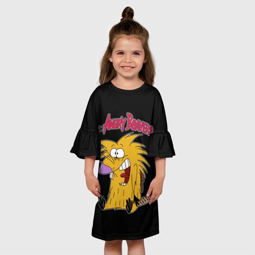Детское платье 3D Крутые бобры Фото 01