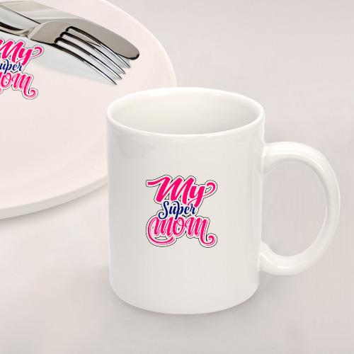 Набор: тарелка + кружка My Super Mom Фото 01