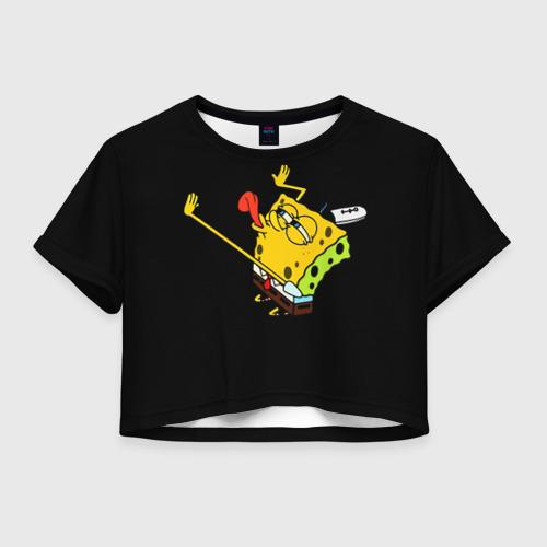 Женская футболка Crop-top 3D SpongeBob 3s Фото 01