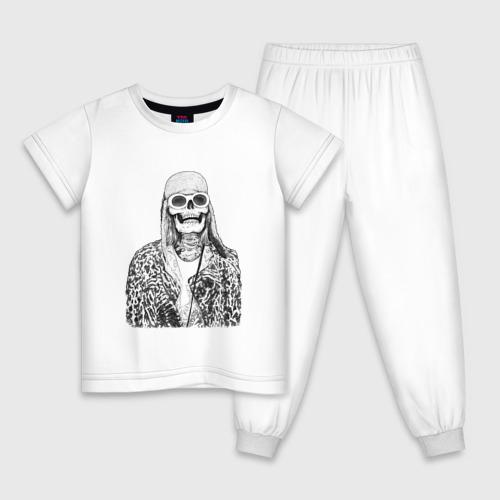 Детская пижама хлопок Скелет Курт Фото 01
