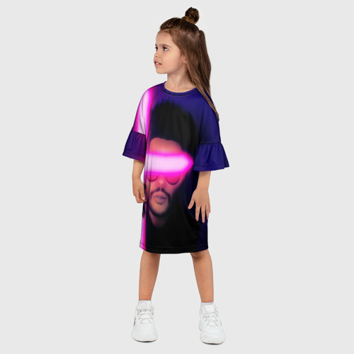 Детское платье 3D The Weeknd - Blinding Lights Фото 01